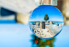Beach Christmas (Kristina Leszczak) Tags: nj newjersey eastcoast oceancounty ocean bayhead beach sand winter december decoration christmas christmastree christmasdecoration merrychristmas nikon nikond3200 crystalball outside outdoor outdoors jerseyshore jersey shore