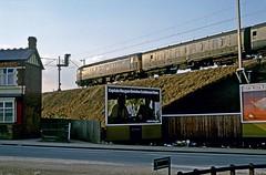 47462, Soho Loop, Birmingham, February 1986 (David Rostance) Tags: class47 winsongreen birmingham 47462 soholoop