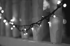 75/365. (cotidiano dela) Tags: luces navidad xmas natal light luzes bw pb casa home