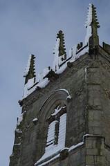 Snow choked louvres (Sundornvic) Tags: snow church battlefield white black architecture stone masonry