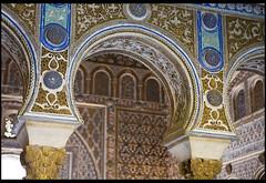 Moorish Embellishment (Nrbelex) Tags: canon dslr 5dmkiii nrbelex ef2470mm 2470mmf28 2470mm 2470mml 5diii widegamut adobergb argb widecolorspace spain seville sevilla no8do realalcázardesevilla alcázarofseville moors moorish moorisharchitecture horseshoearch moorisharch keyholearch