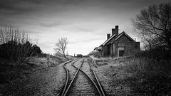 Terminus (Lindi m) Tags: station train terminus dilapidated decay lydd abandoned blackandwhite neglected handheld sonya7r