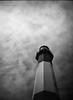 Tybee Lighthouse (RubyT (I come here for cameradarie)) Tags: fppdebonair ilforddelta100 film analog mono monocromo monochrome bw bn nb blackandwhite schwarzweiss noirblanc blancoynegro lighthouse tower clouds sky черноеибелое explore31