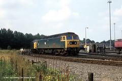 c.1975 - Botanic Gardens (BG) TMD, Hull, East Yorkshire. (53A Models) Tags: britishrail brush type4 class47 47088 samson diesel botanicgardens bg tmd hull eastyorkshire train railway locomotive railroad
