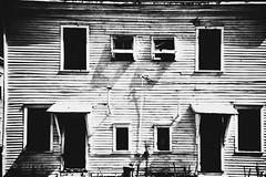 Vieille maison abandonnée .. (Dare2drm) Tags: abandonnée abandon dirt scratches stains house maison damagednegative analogefex streetphoto djfotos blackandwhite noiretblanc whiteandblack nb bw portes fenêtre