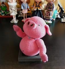 IMAG5195 (Mingle Doll 鳴娃娃) Tags: crochet amigurumi cutommade crochetdoll piggieandlambie 豬仔羊妹