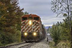 Action Red at Moosehead (Thomas Coulombe) Tags: centralmainequebec cmq redbarn job1 emdsd402f sd402f freighttrain train mooseheadsub moosehead maine