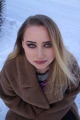 Teddy coat (Silje Roos) Tags: photo photography photos photoshoot portrait picture photographys pretty people pale teddy coat hot girl hotgirl woman snow winter beauty makeup hair blonde blue eyes blueeyes blondehair blondegirl