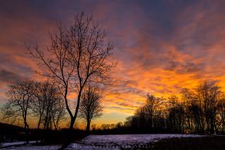 Brucia il cielo nel tramonto