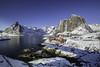 Winter in Lofoten -09- (Christian Wilt) Tags: hamnøy nordland norvège no arctic arcticcircle ocean rorbu blue white lofoten