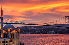 Istanbul (BeNowMeHere) Tags: ifttt 500px color travel clouds see trip colorful colourful sunrise istanbul bridge colour turkey mosque seagull bosphorus magic ortakoy benowmehere