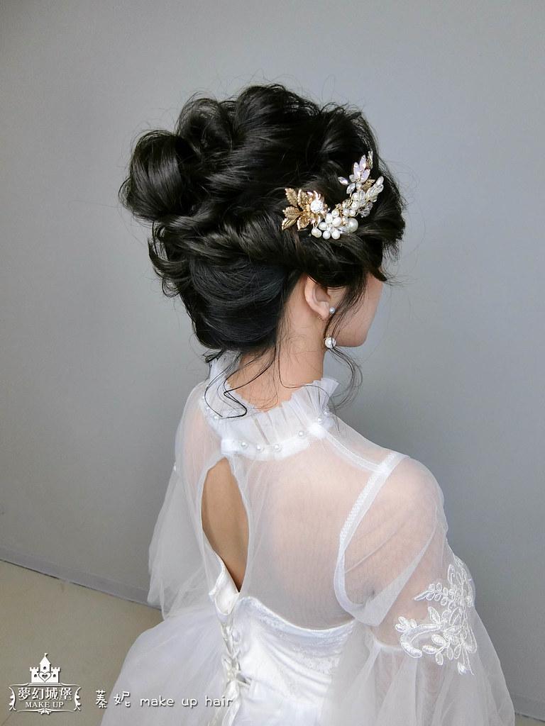 【新秘蓁妮】新娘造型創作 / 黑髮-優雅盤髮造型