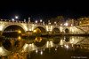 Ponte Sant'Angelo (pierluigi.carrano) Tags: roma rome nikon d3100 lungaesposizione longexposure notte night riflesso reflected fiume tevere river acqua water ponte bridge