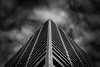 Triangulational Darktitude (Darren LoPrinzi) Tags: philly philadelphia architectural abstract city lookingup perspective urban structure building triangle triangular mono bw blackwhite blackandwhite clouds cloudscape centercity corner dark lowkey