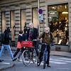 Commuters, Stockholm (Paul Perton) Tags: fuji fuji56mmf12 stockholm sweden xpro2 bike candid city square street streetphotography urban