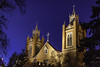 Christmas Eve in Old Town (Tom Kilroy) Tags: sanfelipedeneri oldtown albuquerque newmexico christmaseve catholic church architecture night builtstructure religion christianity buildingexterior history sky tower tree cross old illuminated outdoors steeple famousplace cultures