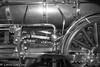 Steam Engine Detail (lorinleecary) Tags: henryfordmuseum blackandwhite gears guages machinery pipes wheels
