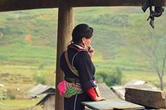 Pensive (Jecika381) Tags: sapa vietnam hmong woman worry anxious thinking pensive portrait traditional clothing