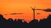 Return to Base (bharathputtur122) Tags: orange red windmill birds flight return home base flock silhouette warm glow twilight cloud beautiful peaceful nostalgia