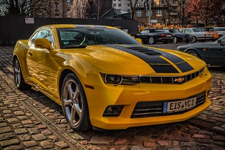 a yello Chevrolet beast with ice picks