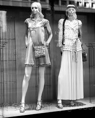 Chanel Boutique Window Display, Bahnhofstrasse 39, Zurich, Switzerland (jag9889) Tags: 2017 2017holidaywindowdisplay 20171231 bw bahnhofstrasse blackandwhite boutique ch cantonzurich cantonofzurich christmas display dress europe fashion helvetia holiday kantonzürich mannequin monochrome outdoor reflection schweiz storewindow suisse suiza suizra svizzera swiss switzerland window zh zurich zürich jag9889