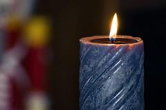 Blue Candle (Penelopi Nicole Kolydas) Tags: candle fire nikon d3300 macro lens