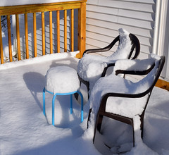 Relaxing on the Deck (RockN) Tags: snow sun december2017 worcester massachusetts newengland