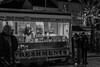 Bideford NYE (Steve, W) Tags: burger hot dog van bideford nye women bw nikon d7500 bored