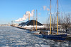 Pathfinder and Playfair under Polar Vortex (Canadian Pacific) Tags: toronto canada canadian city harbour harbor frozen polar vortex deep freeze weather solid lake water ice icy cold very extremely winter wintry sun sunny 2017aimg7139 play fair playfair pathfinder cherrystreet ship channel