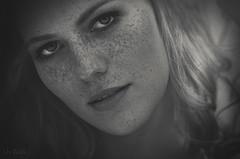 Leonie (RickB500) Tags: portrait girl rickb rickb500 leonie freckles bnw summer blonde young