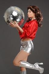 Model Karolina struts at the disco (Michael Struts) Tags: karolina fancy dress disco struts boots 1970 70s