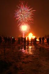 13th Night Bonfire 3 (ragnaolof) Tags: iceland reykjavík grafarvgour gufunes brenna bonfire fireworks christmas newyear night fire light canon750