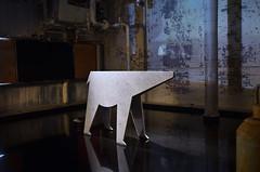 Polar Bear (Kim Yokota) Tags: edit expofordesign toronto ontario canada 2017 portlands leverpondsdetergentfactory nikond7000 nikonafsnikkor24mmf14ged sculpture polarbear installationart