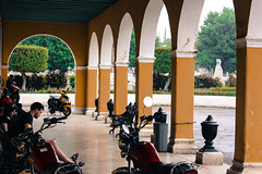 Arches (Alison Claire~) Tags: cuba havana oldhavana habana viejo latin america central canoneos canon canoneos600d 600d eos eos600d outdoor outdoors alison claire motorcycle cemetery arch arches architecture archway green people