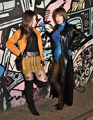 A big thank you to Lord Q and Katrina Transdoll for giving me a lovely late birthday night out at SWAMP yesterday and helping to cheer me up. (Miss Nina Jay) Tags: leotard latex boots tights