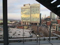 Whitney Museum of American Art Balcony View of The High Line 6406 (Brechtbug) Tags: the high line railroad overpass tracks nowhere park highline new york city 2018 nyc 01212018 street former rail road garden path walk way elevated el remodeled derelict urban reclamation boardwalk skyway pedestrian balcony mezzanine streets midtown downtown meat packing district west side manhattan transportation design redesign architecture art gallery january winter