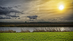 Wide Land And Elements (Alfred Grupstra) Tags: nature ruralscene landscape cloudsky outdoors sky grass scenics sunset summer agriculture meadow farm field cloudscape season beautyinnature water blue tree microsoftdatacenter greenhouses