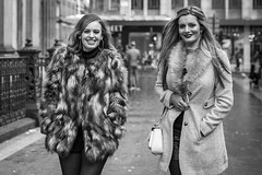 All of the Fur (Leanne Boulton) Tags: portrait people groupshot urban street candid portraiture spontaneous streetphotography candidstreetphotography candidportrait streetportrait eyecontact candideyecontact streetlife woman women female girl girls friends face faces expression smile smiling eyes look emotion feeling mood style fashion fur fauxfur tone texture detail reaction depthoffield bokeh naturallight outdoor light shade city scene human life living humanity society culture canon canon5d 5dmkiii 70mm ef2470mmf28liiusm black white blackwhite bw mono blackandwhite monochrome glasgow scotland uk