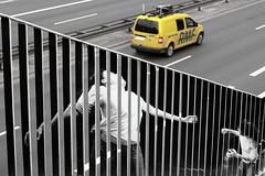 distance 56 (Mirek-Szymanski) Tags: photography street streetart art arte artlovers photooftheday dance yellow car distance highway fineart fine graffiti