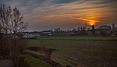 Sunset my hometown (capellini.chiara) Tags: soleil sole sun sunny beautifulsky naturephotography natura nature hdr hometown crema campagna colori tramonto sunset