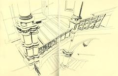 Hôtel des Postes - Strasbourg (lolo wagner) Tags: usk urbansketchers strasbourg laposte croquis sketch dessin