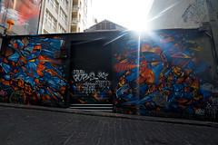 Grafitti Flare (Lyndon (NZ)) Tags: australia 2018 melbourne grafitti art wall flare alley city colour sun