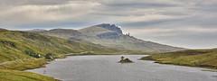 Island in the Skye.. (Harleynik Rides Again.) Tags: isleofskye oldman loch island mountains highlands scotland harleynikridesagain