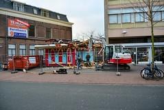Kiosk demolished (Michiel2005) Tags: sloop demolish kiosk stationsweg leiden nederland netherlands holland