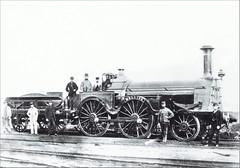 "Great Western Railway (UK) - GWR 2-4-0 steam locomotive ""Melling"" (Slaughter, Grüning & Co. 1865) (HISTORICAL RAILWAY IMAGES) Tags: steam locomotive gwr melling stothertslaughter 1865 240 slaughtergrüning greatwestern railway"