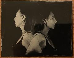 Tintype self portraits (Anjella Roessler) Tags: tin 5x4 4x5 largeformat selfportrait multiple portraits alternative tintype