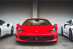 Still Stunning (Noah L. Photography) Tags: ferrari 458 spider red rosso corsa car sportscar supercar convertible italian lamborghininewportbeach newportbeach costamesa nikon50mmf18seriese