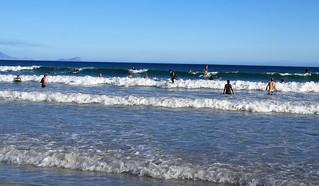Surfing spot in Muizenberg