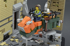 Mollusk V (Closeup 1) (Klikstyle) Tags: lego speederbike cyberpunk district18 vignette hovercycle