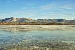 Chilling View (thetrick113) Tags: sonyslta65v hdr river hudsonriver hudsonhighlands hudsonvalley hudsonrivervalley hudsonriverice frozen newburghnewyork beaconnewyork mtbeacon mountbeacon snow winter2018 2018 winter sunny sky blue